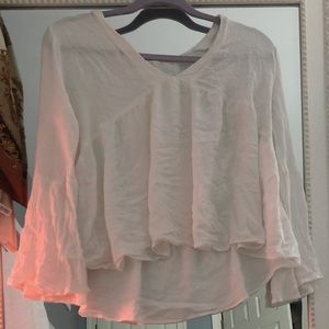 island gypsy white flowy top